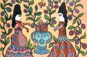 baya01-deux-femmes_au-bouquet_fleuri