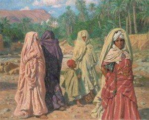 H22.Femmes_traversant_le_lit_asseche_de_l_oued_Bou-Saada