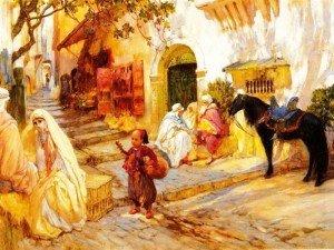 J01.bridgman-une-rue-en-algerie