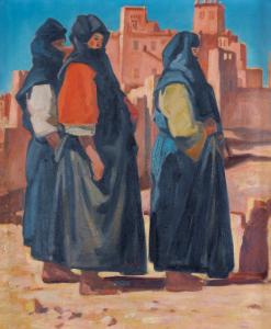 14.Kabylie_femmes_devant_la_casbah