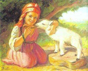 B12.jeune-fille-et-son-agneau